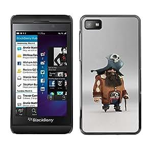 Estuche Cubierta Shell Smartphone estuche protector duro para el teléfono móvil Caso Blackberry Z10 / CECELL Phone case / / pirate skull character pc game captain /