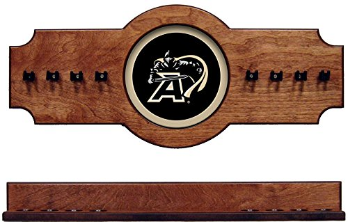- NCAA Army Black Knights ARMCRR200-P 2 pc Hanging Wall Pool Cue Stick Holder Rack - Pecan