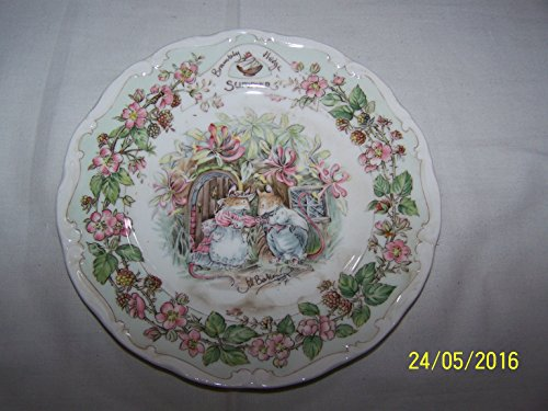 16cm Royal Doulton Brambly Hedge Summer afternoon tea plate from the Brambly Hedge Gift Collection - CP1130 Royal Doulton Brambly Hedge