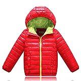 Vovotrade Children Boys Girls Long Sleeve Hooded Jacket Coat Keep Warm Zipper Outwear(Red,150)