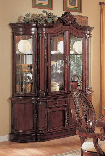 Coaster Tabitha Traditional China Cabinet in Dark Cherry