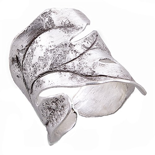 Hill Tribe Rings - Leaf Ring Thai Karen Hill Tribe Pure Silver Handmade (11)