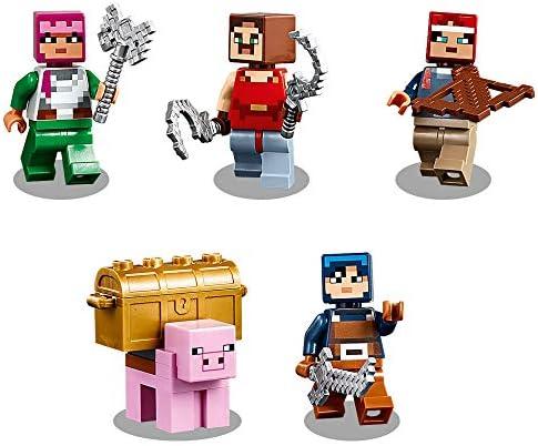LEGO 21163 Minecraft Das Redstone-Kräftemessen Bauset mit Golem- und Monsterfiguren, Spielzeug für Kinder ab 8 Jahren
