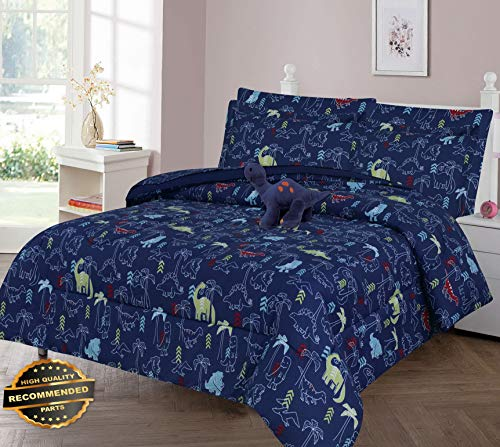 (Werrox Jurassic Jams Comforter Bed Sheet Set Window Panel Valance for Kids Teens Size   Full Quilt Set)