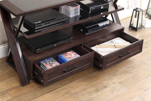 Amazoncom Whalen Furniture Xldec54 Nv 3 In 1 Flat Panel Tv Stand