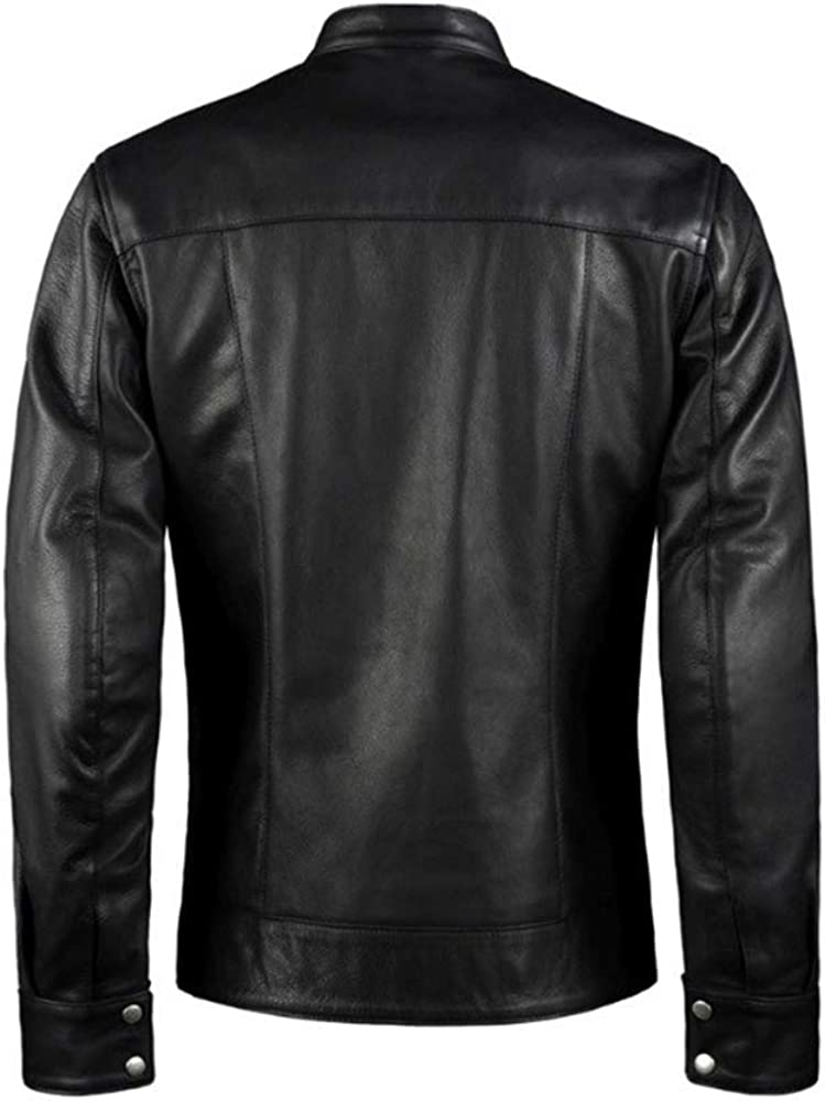 Mens Black and Red Slim fit Stylish Leather Jacket