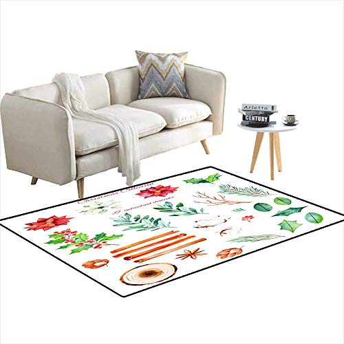 (Extra Large Area Rug Christmas anNew Year Collection 36