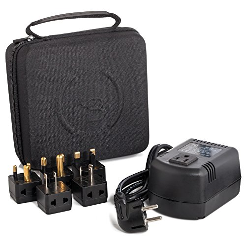 Yubi Power 200 Watts Step Down Voltage Converter Kit for International Travel to 220V plus adpter A I G E/F Ideal for Laptops Cameras Phones iPads etc In a Durable Traveling Cases (Convertidor De Smart Tv)