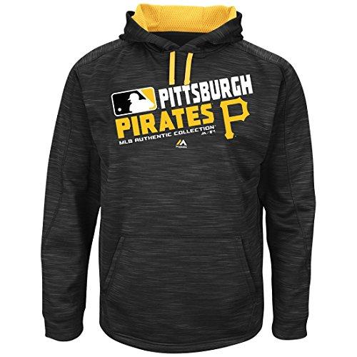 Pittsburgh Pirates Lamp (Majestic MLB-Authentic-On Field-Team Choice -Streak Therma Base Fleece Hoodie Sweatshirt-Pittsburgh)