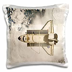 Florene Space - Aerial View Of Space Shuttle Discovery - 16x16 inch Pillow Case (pc_80566_1)