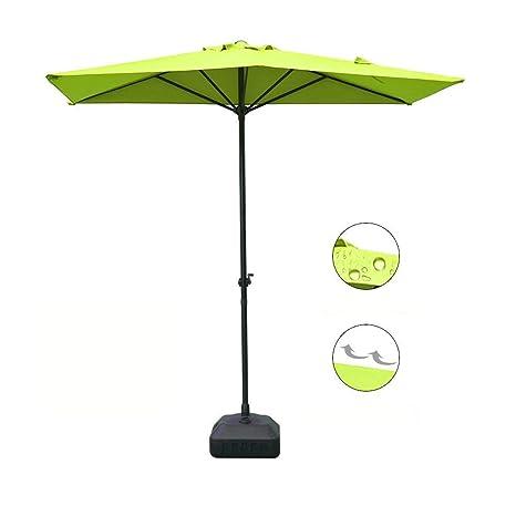 Ordinaire COBANA Half 7.5u0027by 5u0027 Rectangular Outdoor Umbrella For Patio,Balcony,Garden