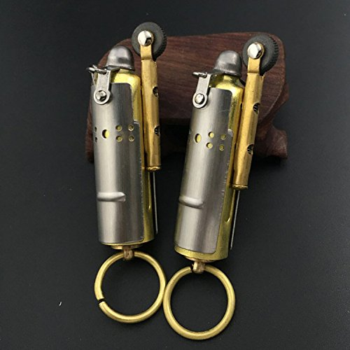 Collectable Vintage Trench lighter Stainless Steel kerosene oil lighter Retro 2 Pack (Collectable Lighters)