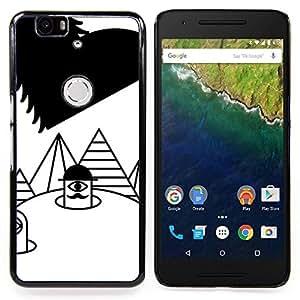 - Finger Puppet Pyramid Heart White Black - - Monedero pared Design Premium cuero del tir???¡¯???€????€??????????&fno