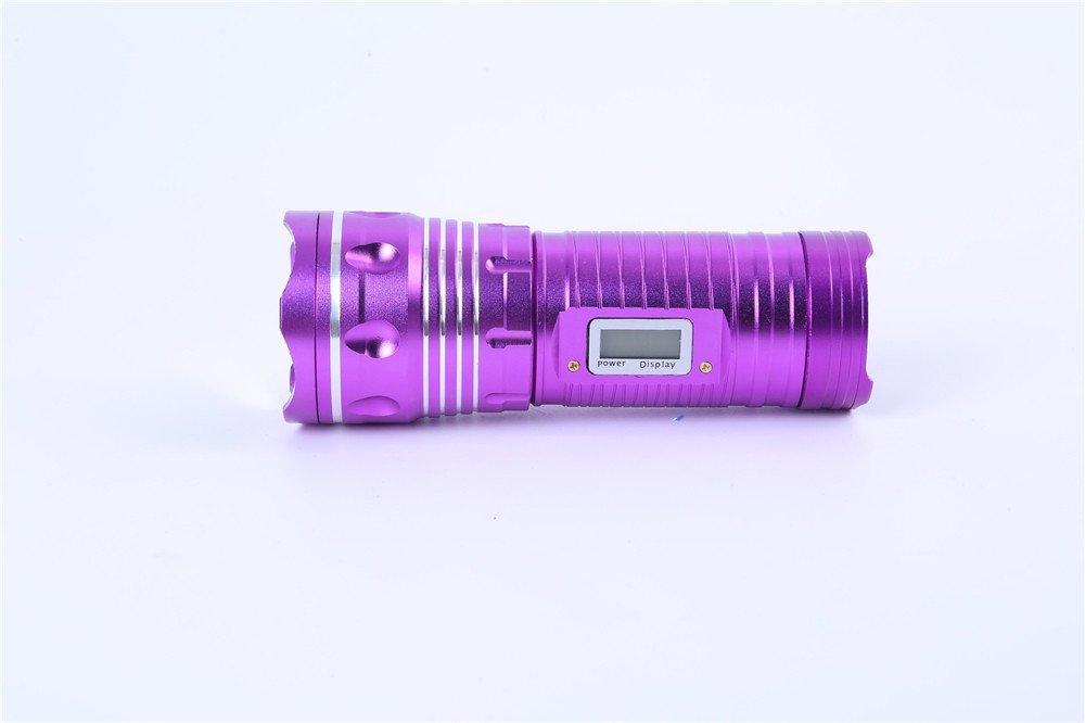 Taschenlampe Drei Lichtquelle Led Glare Aluminium Legierung Kapazität 4500 mA