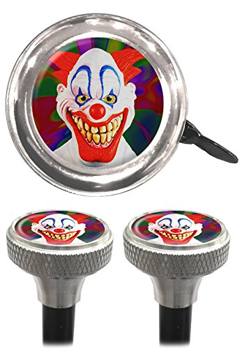 Clean Motion Evil Clown Capperz Valve Stem Caps and Bell