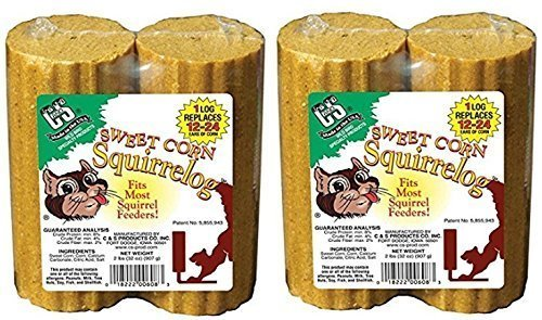 C & S 4883533148250 C&S Sweet Corn Squirrelog Refill, 32-Ounce, 4-Pack, 32 oz (2), Brown/A