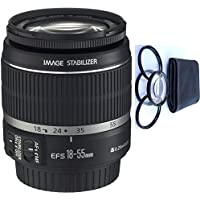Canon 18-55mm IS Lens (WHITE BOX) + 4pc Macro Lenses Set (+1 +2 +4 +10)