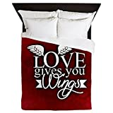 Queen Duvet Cover Love Gives You Wings