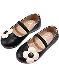 PPXID Toddler Little Girl's Princess Mary Jane Beautiful Flower Oxford Flat Dress Shoes