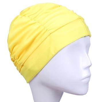 Xpccj Damen Badehaube Hat bequem Rose innen wasserdicht Fashion Damen Turban Swim Cap Baden Cap leicht Free Size langlebig