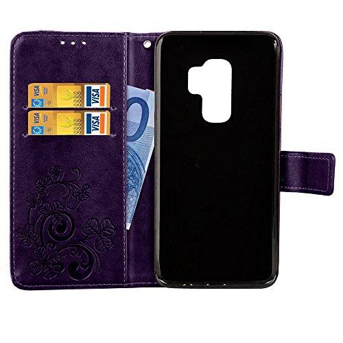 Rose Coque Rouge Artfeel pour Galaxy en S9 Samsung Cuir Portefeuille tUOqUBa