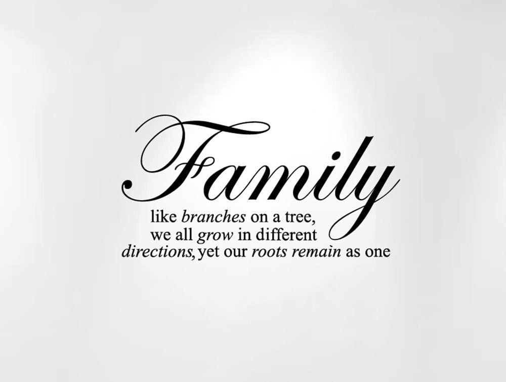 Innovative Stencils Family Like Branches on a Tree. Wall Decal Sticker Quote (24
