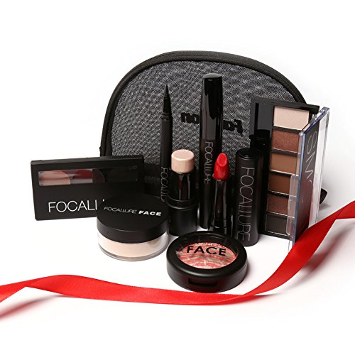 Makeup Set, Makeup Gift Set Lipstick Eyeliner Mascara Eyeshadow Blush Cosmetic with Bag