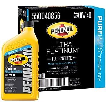 Pennzoil 550040834 6pk platinum euro sae 5w 40 for Pennzoil platinum full synthetic motor oil