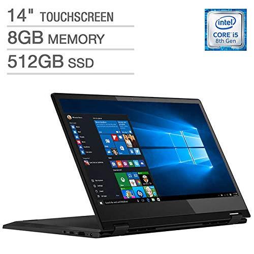 Latest_Lenovo Flex 14 2-in-1 FHD Touchscreen Laptop, Intel i5-8265U Processor, 8GB DDR4 RAM, 512GB SSD, HDMI, Fingerprint reader, USB 3.1 Type C, Media Card Reader, Backlit Keyboard, Dolby Audio,Win10