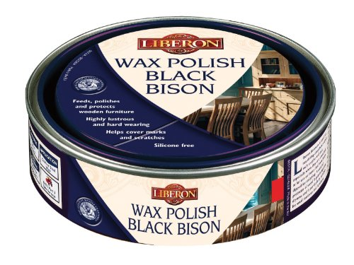 Liberon Black Bison Paste Wax, 500 ml, Medium Mahogany