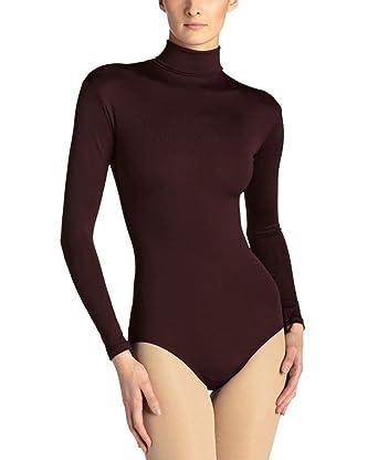 72af1e637bd22c Bodysuits Women's Quality Rollneck Cotton Leotard UK 10 S(38), Black (.