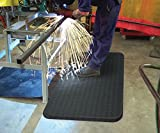 WeldMaster Spark-Proof Mat, 2' x 3', Black, 1/2''