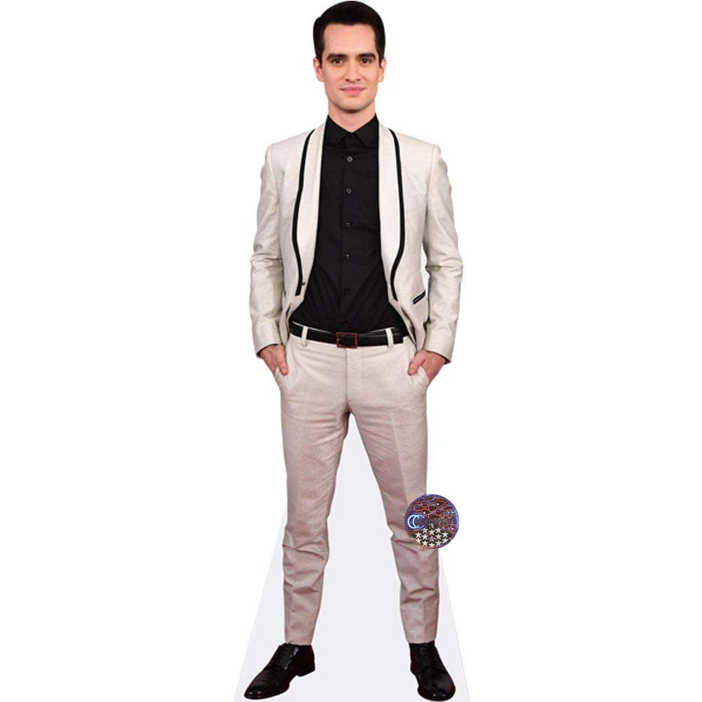 Cardboard Cutout Brendon Urie Standee. lifesize White Suit