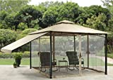 Patio Furniture- Premium® Home Garden- Canal Drive Cabin-Style Gazebo, 11′ x 11′- Color Brown Review