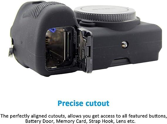 Easy Hood Schutzhülle Für Sony Alpha A6500 Ilce 6500 Digitalkamera Kratzfestes Weiches Silikongehäuse Schutzhülle Für Sony Alpha A6500 Schwarz Elektronik