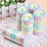 Portable Multicolour Ripple Disposable Compressed Towel(10pcs Random Colors)