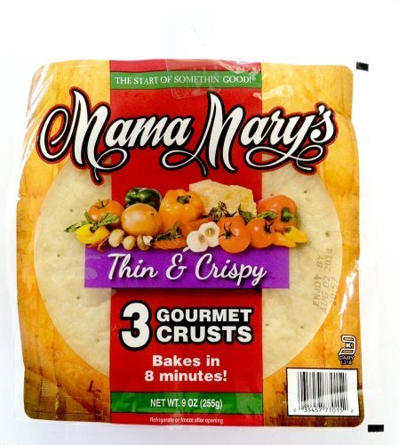 Mama Mary's, Prepared Pizza Crusts, Thin & Crispy 7 Crusts (3 Crusts), 9oz Bag (Pack of 3) (Choose Types Below) (Thin & Crispy 7 Crusts (3 Pack)) by Mama Mary's