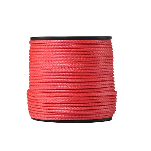Ymiss UHMWPE 2mm(5/64'')x50M (165') Long Spearfishing Line-Red Color by Ymiss