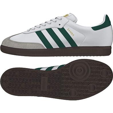 timeless design b0140 7efba adidas Herren Samba Og Gymnastikschuhe, Weiß grün Amazon.de Schuhe   Handtaschen