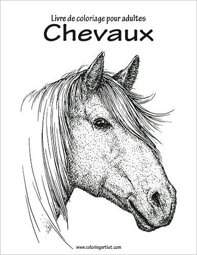 Coloriage Cheval Zen.Livre De Coloriage Pour Adultes Chevaux 1 Amazon Fr Nick