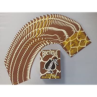Bicycle Giraffe Deck Playing Cards - Brown Yellow White Skin Back Design by USPC: Sports & Outdoors