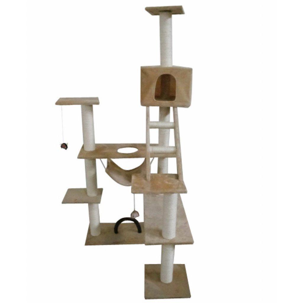 Anself Rascador Para Gatos 184 Cm Color Beige Gimnasio Para Gato: Amazon.es: Hogar