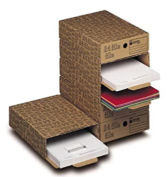 6 cajas para archivo King mec 30372 caja archivo A4 File 26 x 8 x 35
