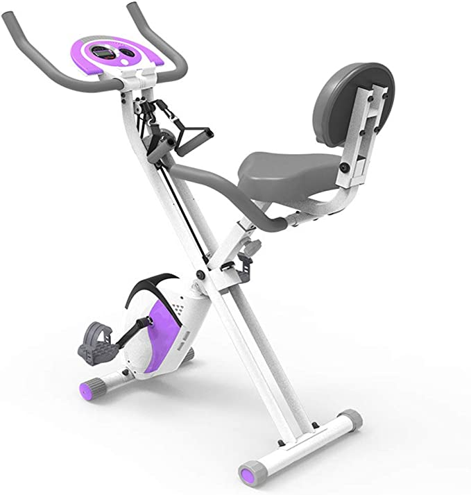 HLEZ Bicicleta Estática Plegable, Bicicleta Estática de Spinning Deportiva Ordenador de Entrena...
