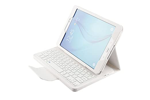 Funda PU Cuero con Teclado para Samsung Galaxy Tab A 9.7 Inch Pulgada T550 Tablet, Fenrad® Case Cover con Wireless Teclado Removable Bluetooth Keyboard ...