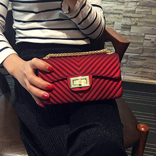 Amazon.com: Summer Silica Gel Female Mini Chain Jelly Bag ...