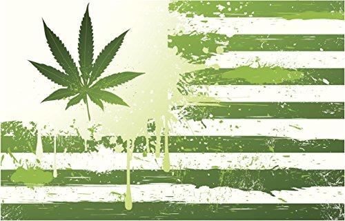 Art Print On Canvas Poster (unframed) - Marijuana Country Flag32