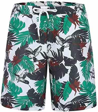 ed0a78d849 Zeetoo Mens Printed Funny Swim Trunks Quick Dry Beachwear Sports Running  Swim Board Shorts Mesh Lining