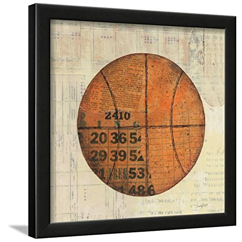- ArtEdge Play Ball IV Art Print, Black Frame, 15x15, Black Frame-Unmatted