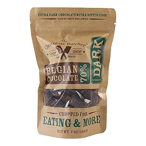Chopped Bittersweet Dark Belgian Chocolate--70% Cocoa Content - Cocoa Extra Dark Chocolate